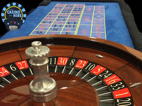 Corporate casino hire blue roulette