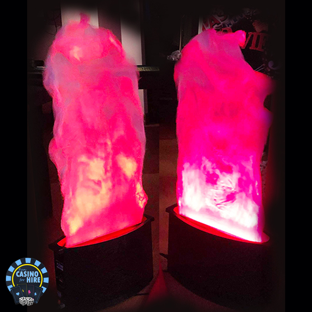 Fun Casino for hire entrance flame lights