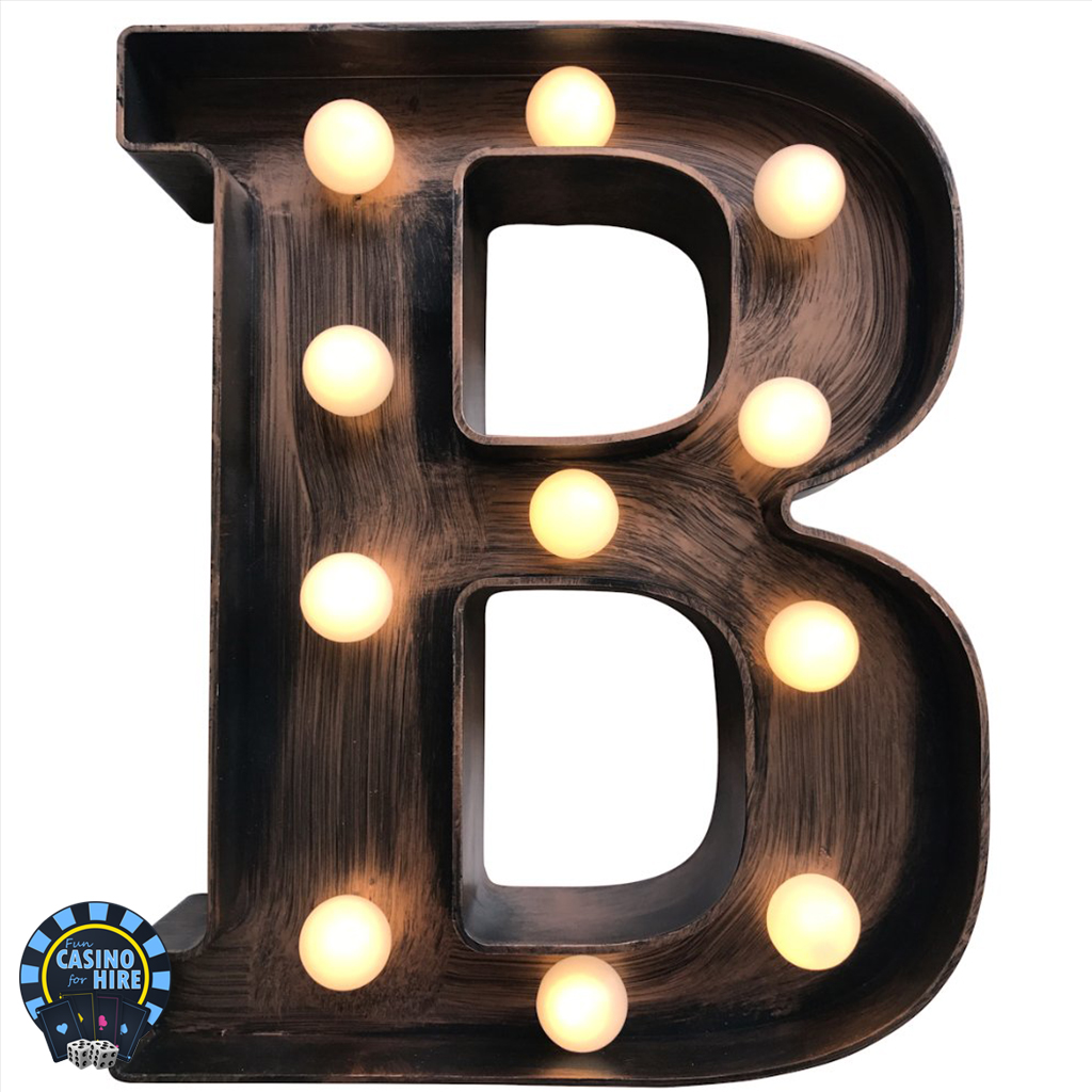 Light up casino letters 22cm tall