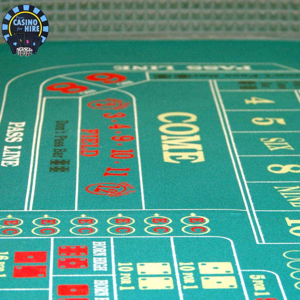 Fun Casino for hire Craps table game hire