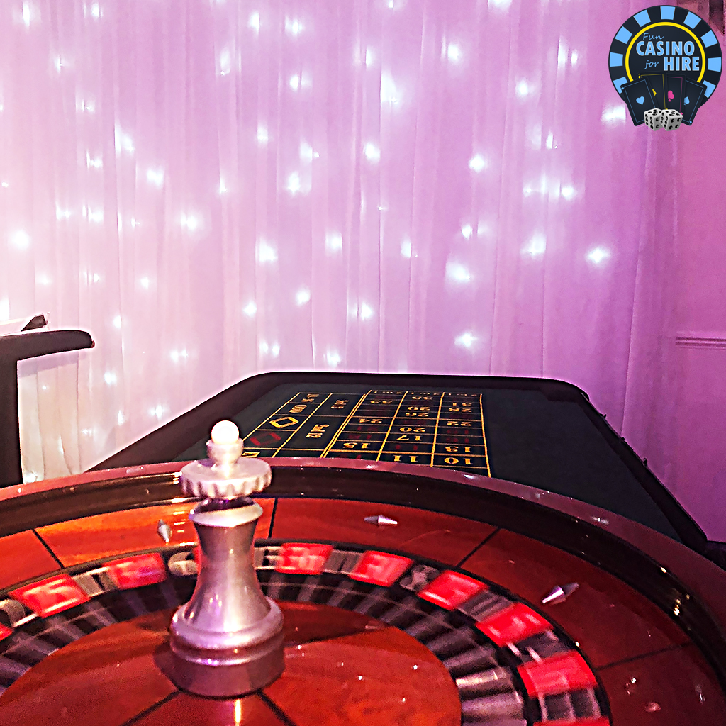 Casino party hire roulette table