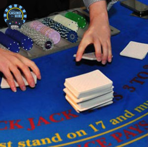 Fun Casino for hire blue casino tables