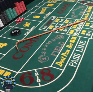 Fun Casino craps hire table