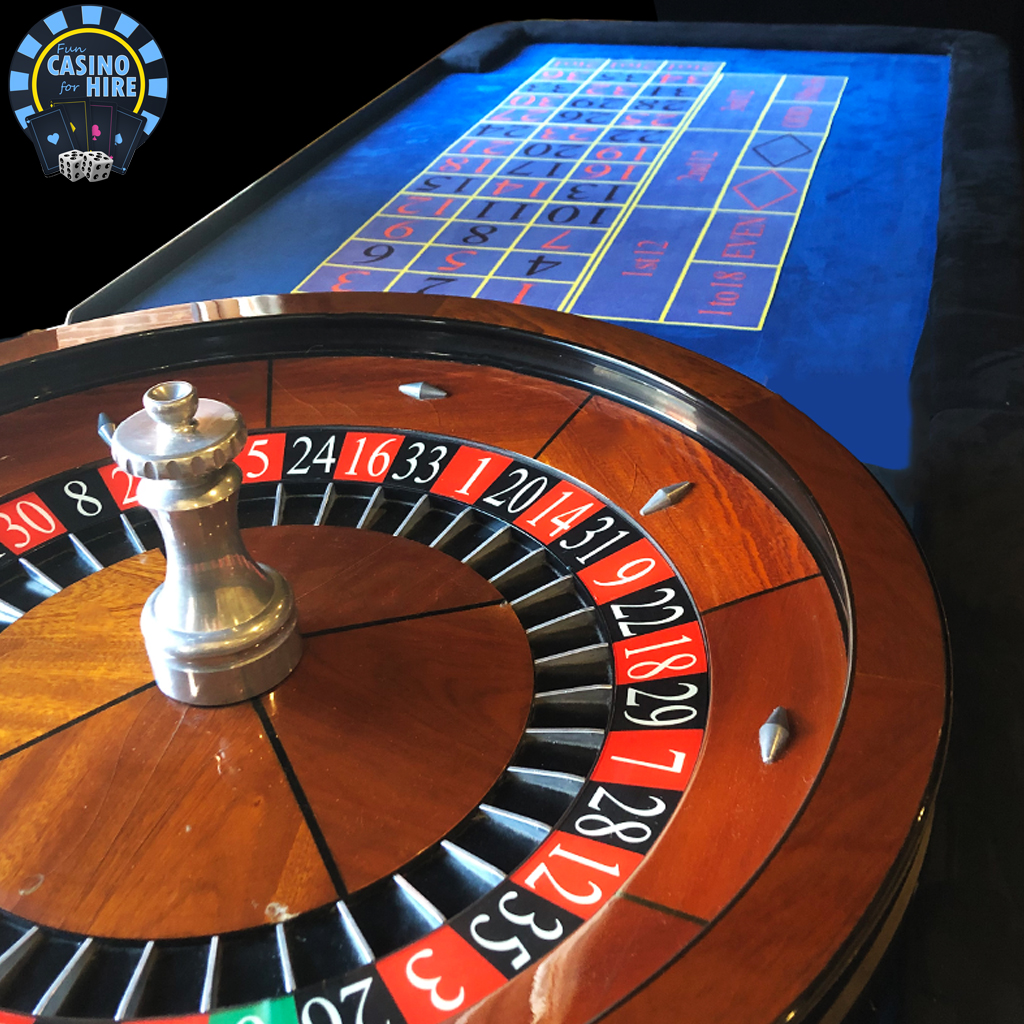 Fun Casino for hire Roulette blue