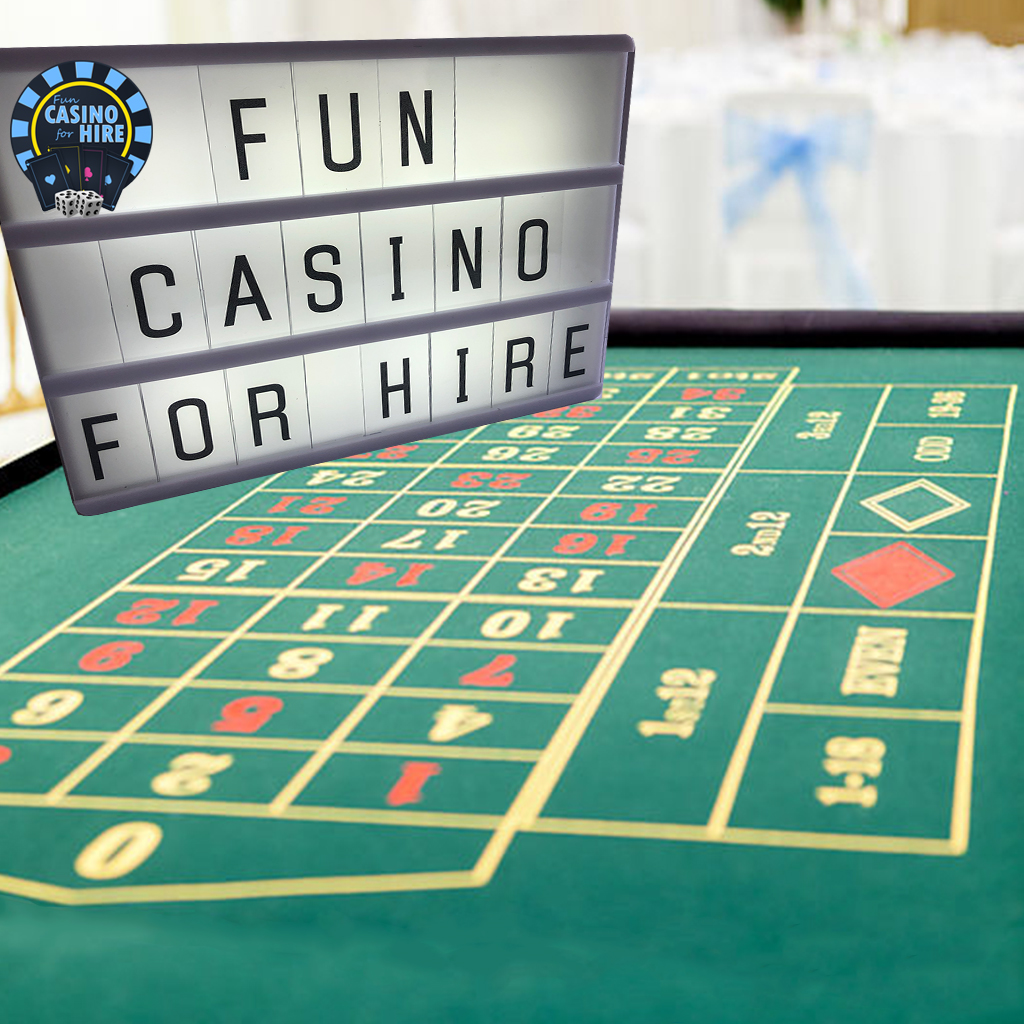 fun casino personalised light box 1m