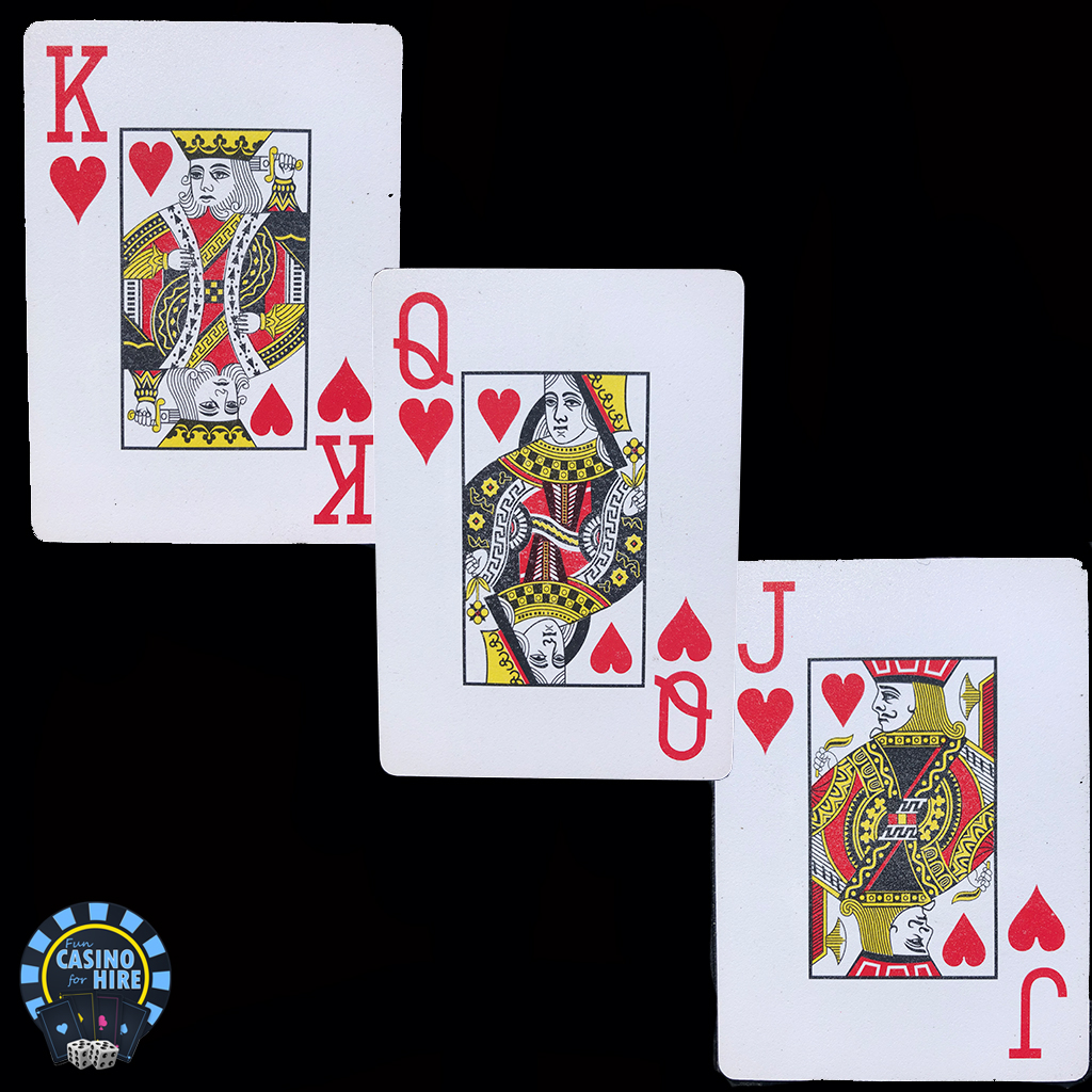 2ft x 3ft playing card casino props