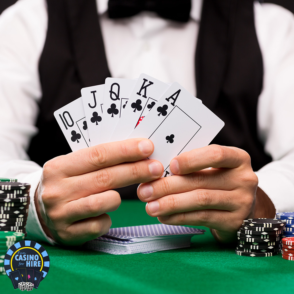 Casino game hire five card stud poker