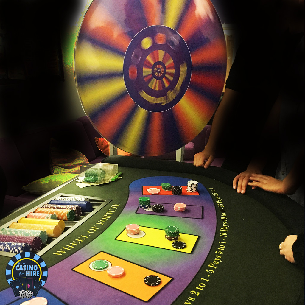 Spinning wheel of fortune casino hire